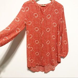 Lucky Brand Boho 70's Inspired Button Down Size M